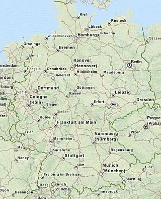 karte von ganz deutschland Karten für Trekbuddy